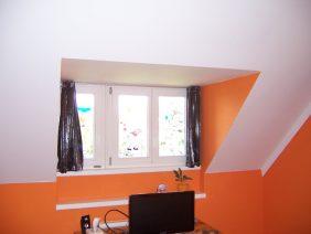 Narancs-fehér hálószoba 2